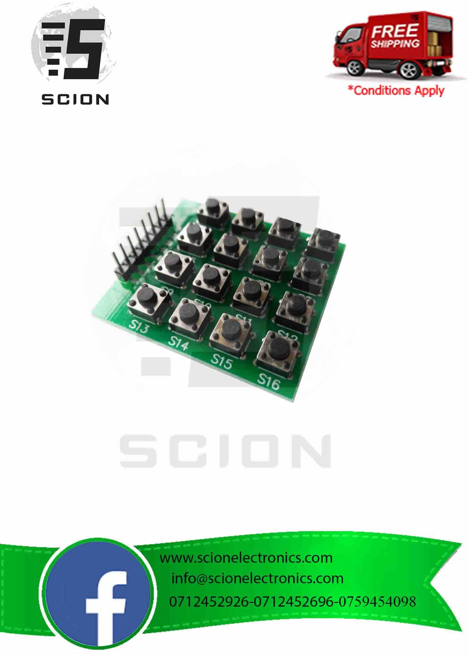 f88b4360ca5 4×4 Matrix 16 Keypad Keyboard Module 16 Button MCU for Arduino ...